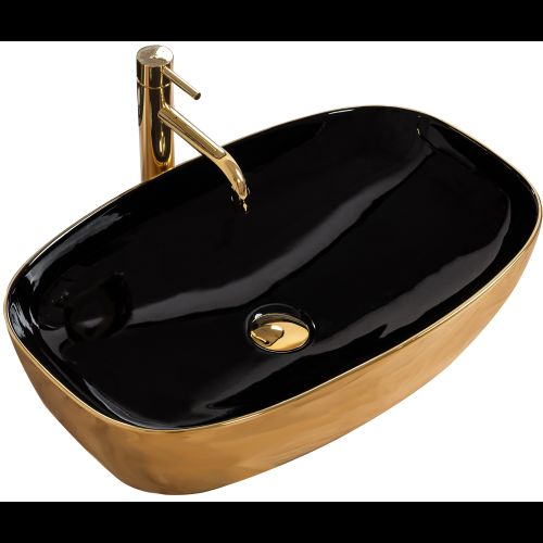 Countertop Basin Rich Gold/Black