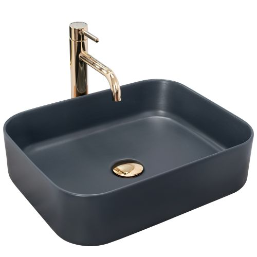 Countertop washbasin Rea KAYA Navy Blue Mat