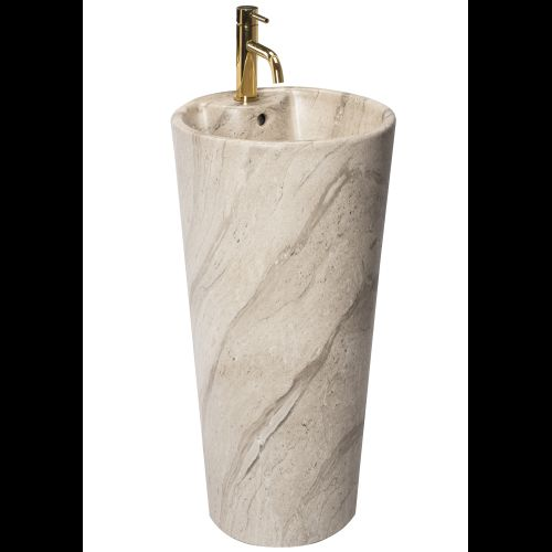 Freestanding ceramic basin Blanka Natural Mat Marble