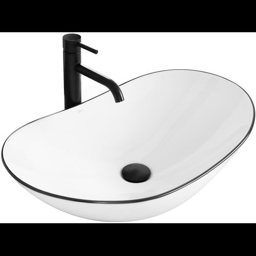 Countertop washbasin Rea Royal Black Edge
