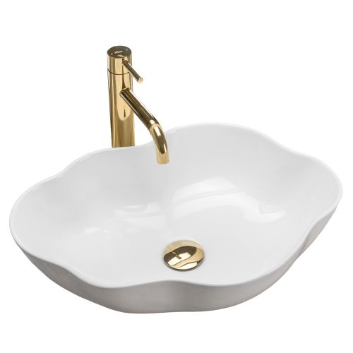 Countertop washbasin Rea Pearl White