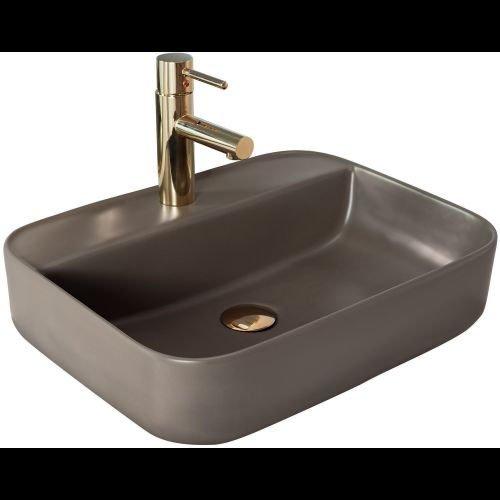 Countertop Basin Rea Martina Warm Grey Mat