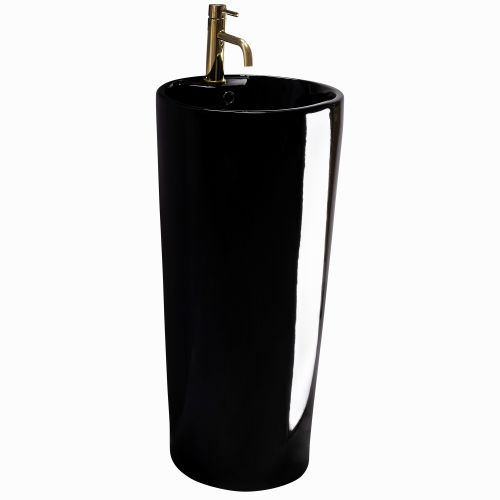 Freestanding ceramic basin BLANKA Black