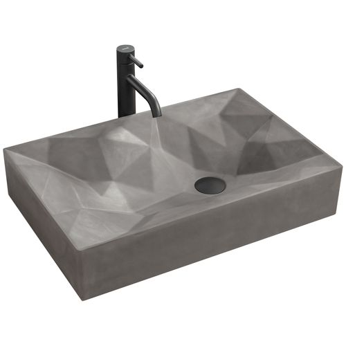 Countertop Basin Rea Rock Grey Mat