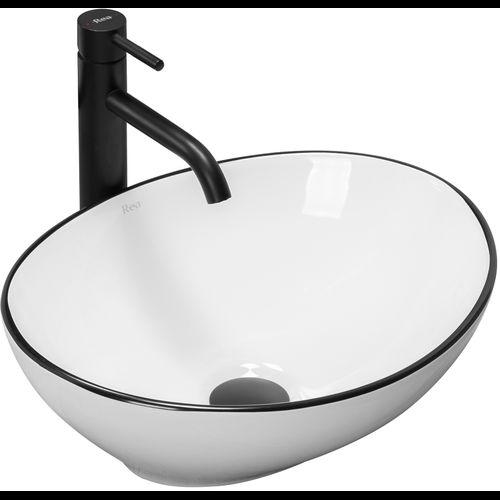 Countertop Basin Rea Sofia Black Edge