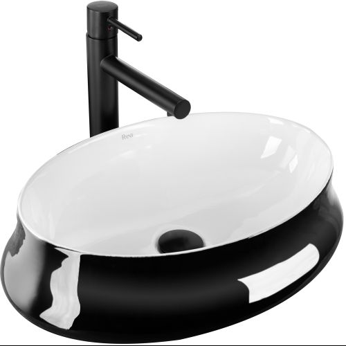 Countertop washbasin  Angela White Black