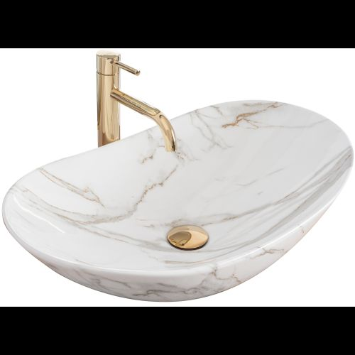 Countertop washbasin Rea Royal Shiny Aiax Marmur