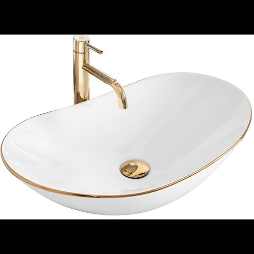 Countertop washbasin Rea Royal Gold Edge