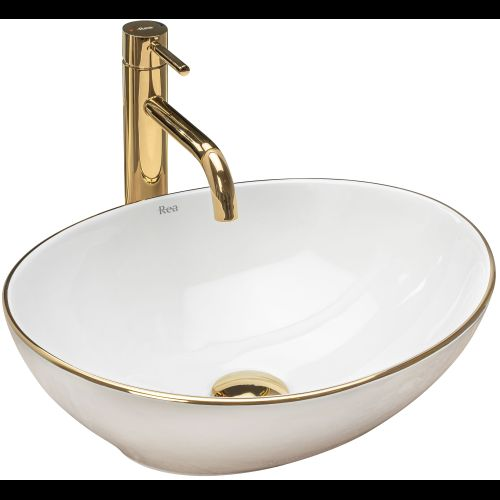 Countertop washbasin Rea Sofia Gold Edge