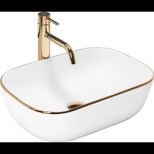Countertop Basin Rea Belinda Gold Edge