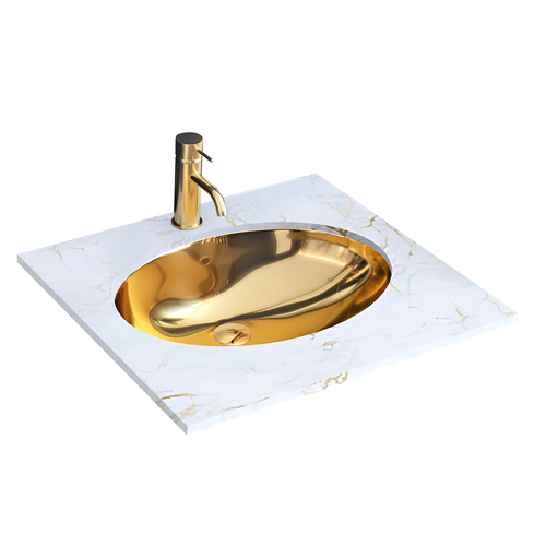Inset washbasin Rea Nel Gold